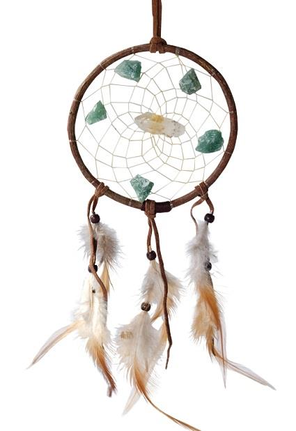 "4"" Vision Seeker Dream Catcher with Stones 