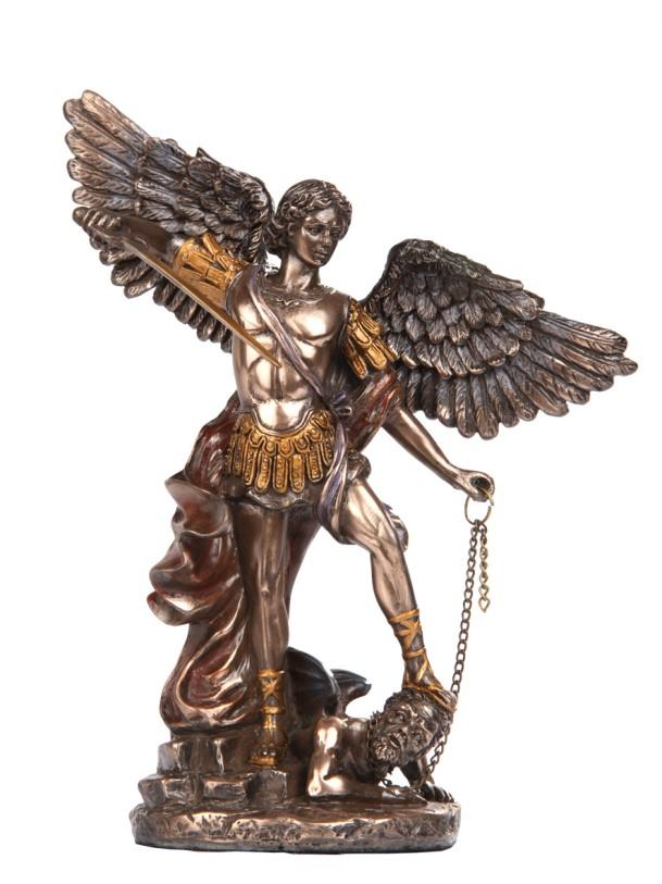 Statue St. Michael small Bronze | Earthworks