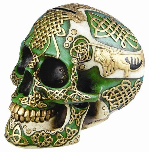 Celtic Lion Skull Money Bank | Earthworks