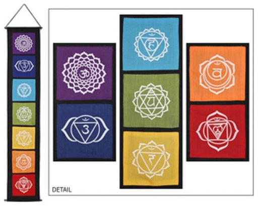 Wall Banner Chakra on Black | Earthworks