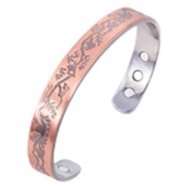 Copper Bangle with Leaves | Earthworks