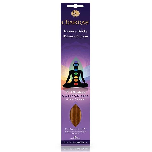 Chakra Incense Crown 20pk | Earthworks