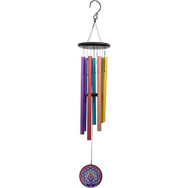 Windchime 7 Chakra Flower of Life 38"