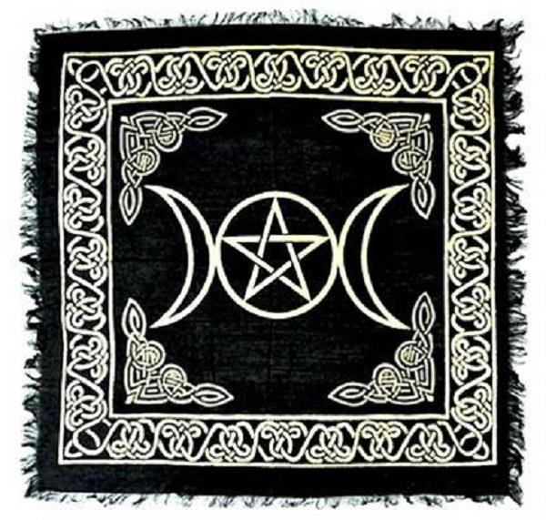 Altar Cloth Triple Moon Gold | Earthworks