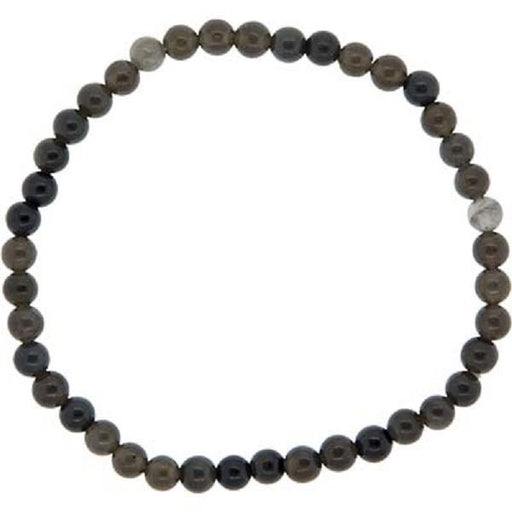 4mm Black Obsidian Bracelet | Earthworks