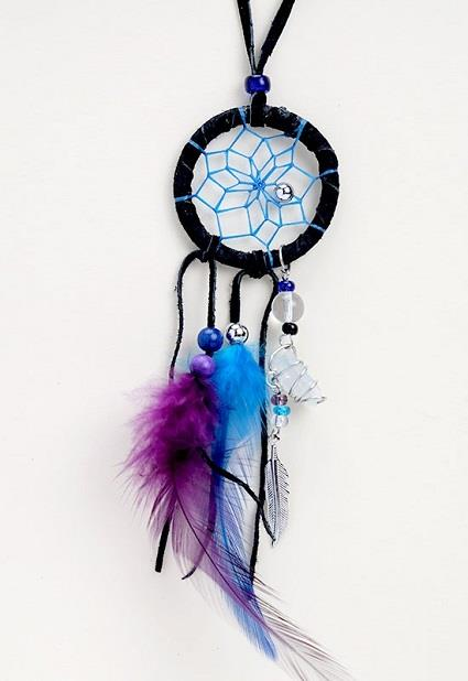 "Dreamcatcher 1.5"" Magical Necklace Black 