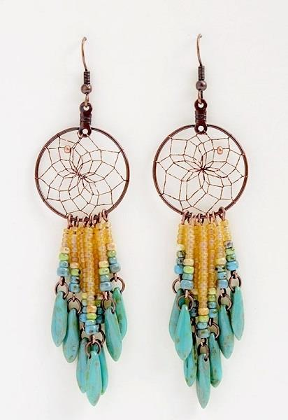 "1"" Dreamcatcher Earrings Picasso"