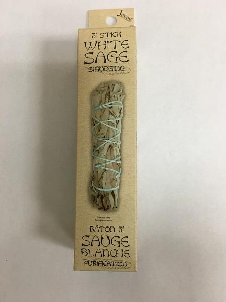 "3"" White Sage Smudge Stick 