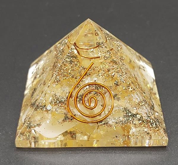 50mm-60mm Orgonite Pyramid Solar Plexus