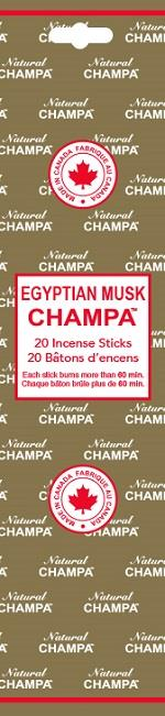 Natural Champa Egyptian Musk 20pk | Earthworks