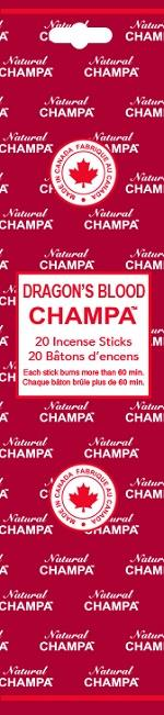 Natural Champa Dragon's Blood 20pk | Earthworks