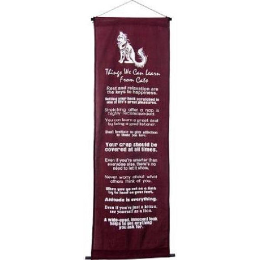 Wall Banner Learn from you Cat 16x48 | Earthworks