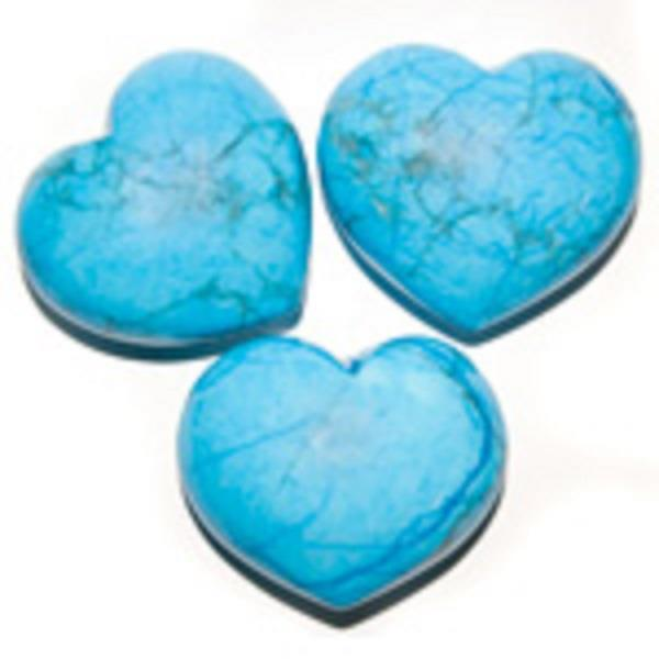 Puffy Heart 45mm Turquoise Howlite | Earthworks