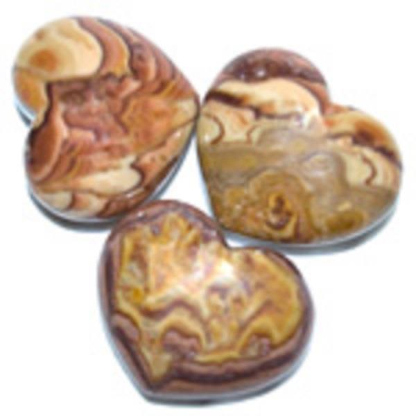 Puffy Heart 45mm Red Picture Jasper | Earthworks