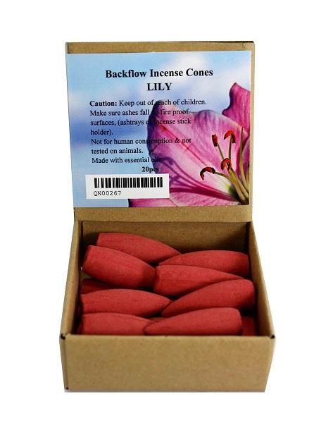 Backflow Incense Cones Lily 20pcs | Earthworks