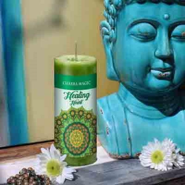 Chakra Magic Candle Heart | Earthworks