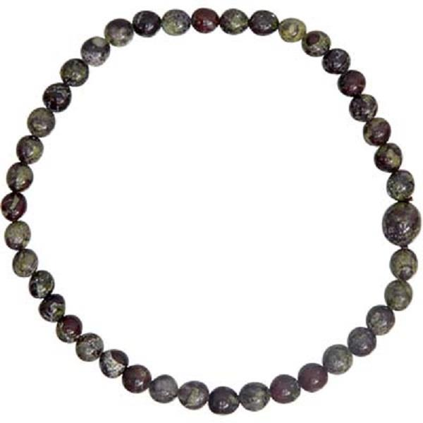 4mm Dragon Bloodstone Bracelet | Earthworks