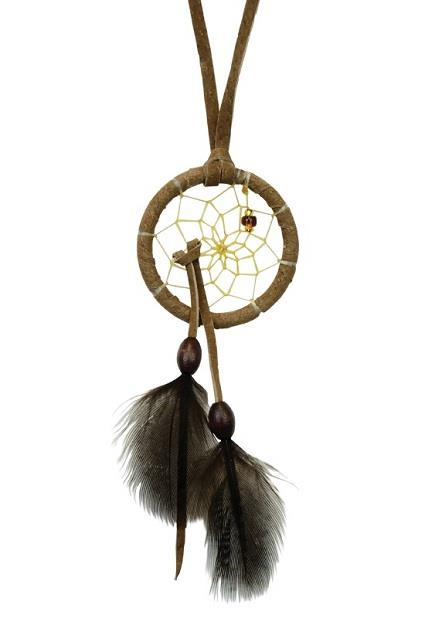 "1.5"" Dreamcatcher Brown Tie in Web 