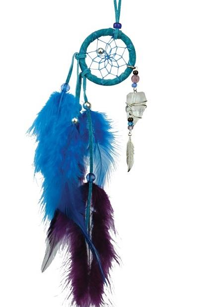 "Dreamcatcher 1.5"" Magical Turquoise w/Quartz