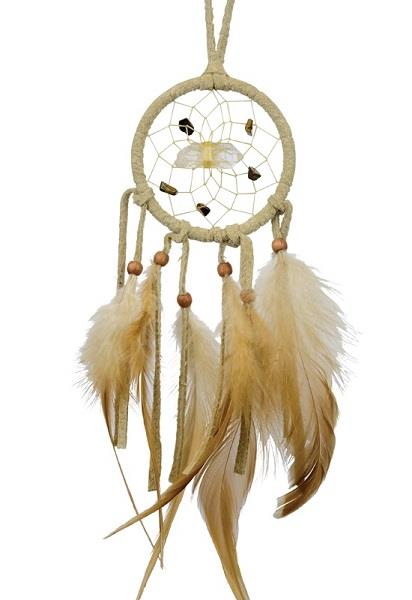 "2.5"" Vision Seeker Dreamcatcher Tan 