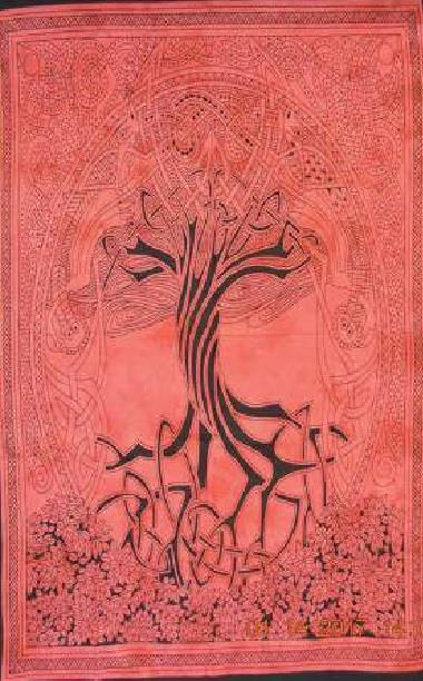 Throw Celtic Tree of Life Red | Earthworks