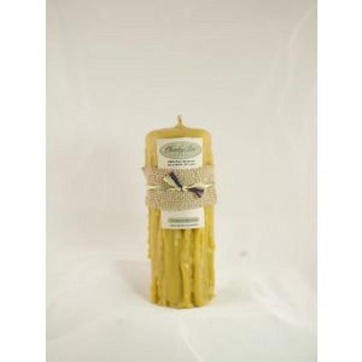 "Beeswax Candle 4.5""x10"" hand dripped 