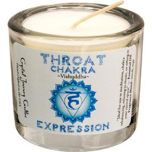 Soya Wax Throat Chakra Candle 2""