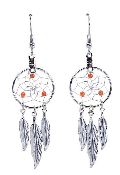"0.75"" Dreamcatcher Earrings Birthstone July"
