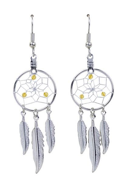 "0.75"" Dreamcatcher Earrings Birthstone November"
