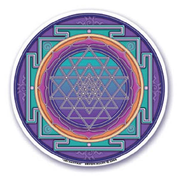 Window Sticker Sri Yantra