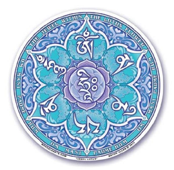 Window Decal Throat Chakra