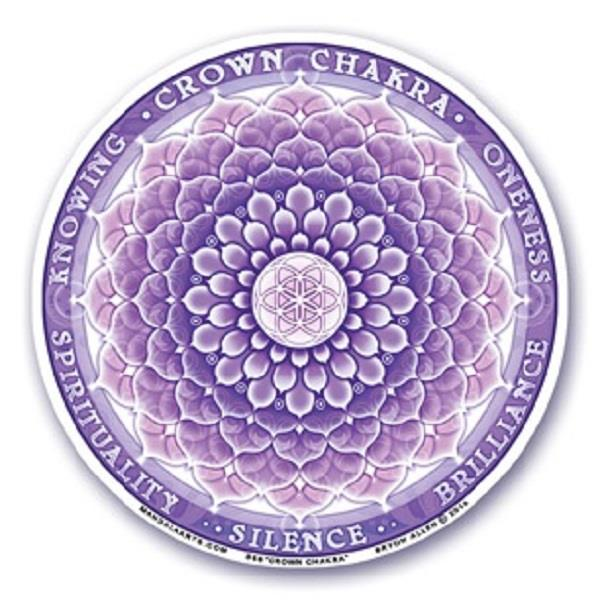 Window Decal Crown Chakra