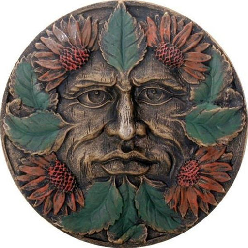 "Wall Plaque 5.5"" Greenman Summer 