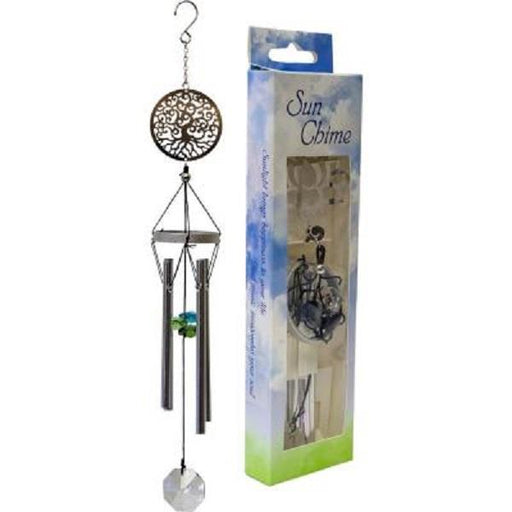 "10"" Metal Windchime Tree of Life 