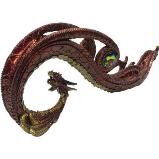 Incense Holder Red Curved Dragon | Earthworks