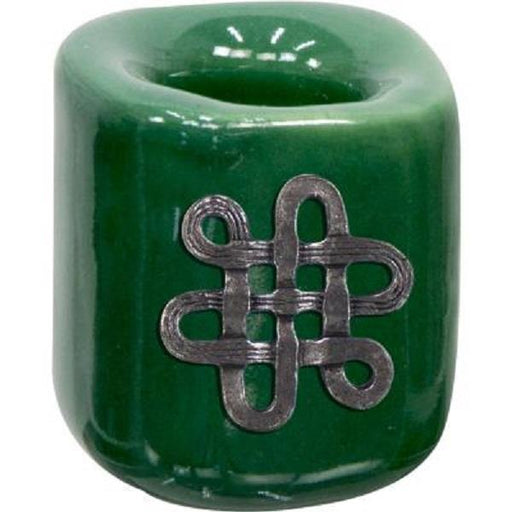 Mini Candle Holder Ceramic Celtic Knot | Earthworks