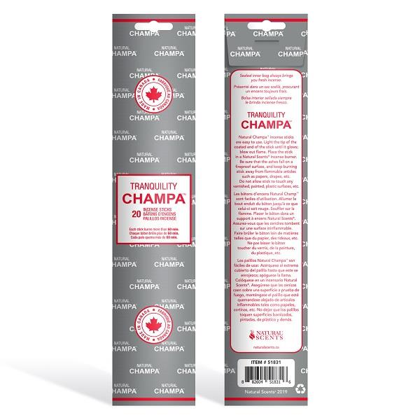 Champa Incense Tranquility 20 sticks