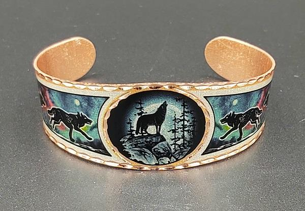 Copper Reflections Bracelet Wolf