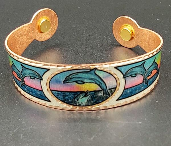 Copper Reflections Bracelet Dolphin
