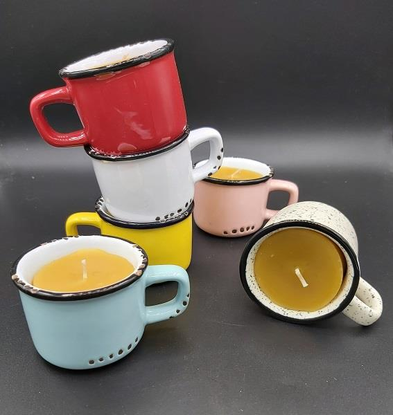 Beeswax Candle Espresso Cup Assorted