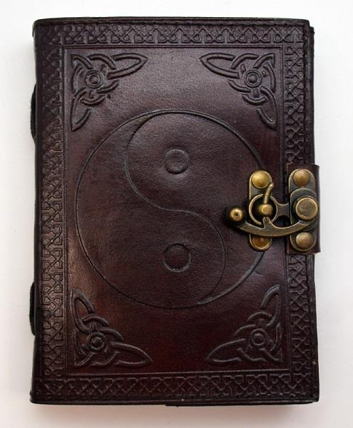 Leather Journal Yin Yang Embossed