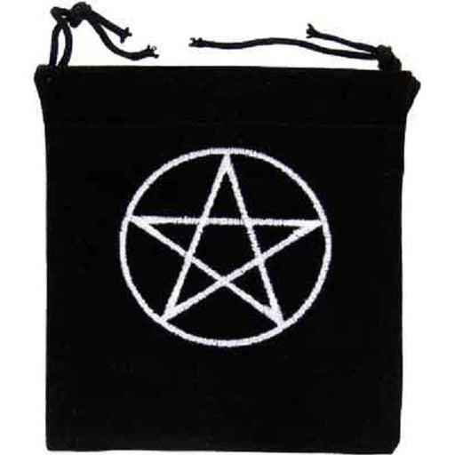 Velvet Bag Pentacle Embroidered 4x4 | Earthworks