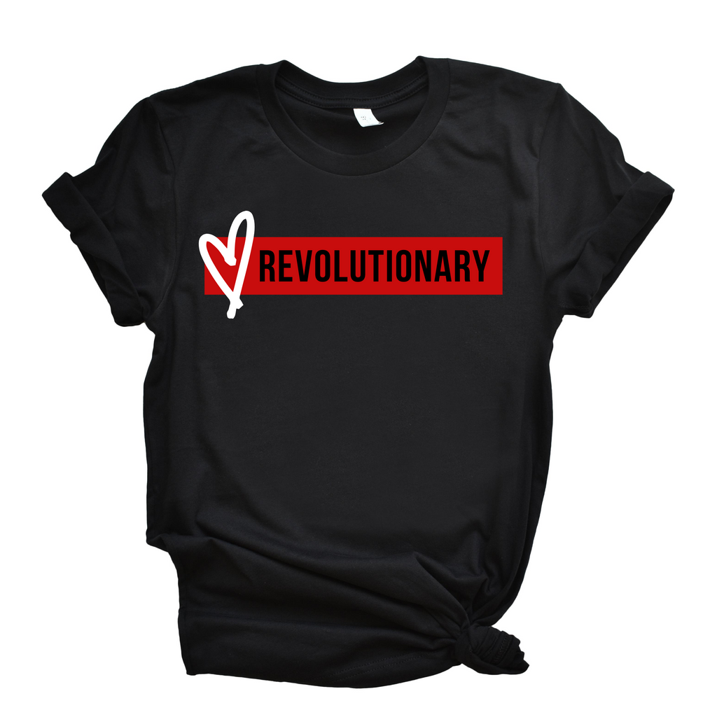 Love Revolutionary (Bar) Unisex T-Shirt- Black