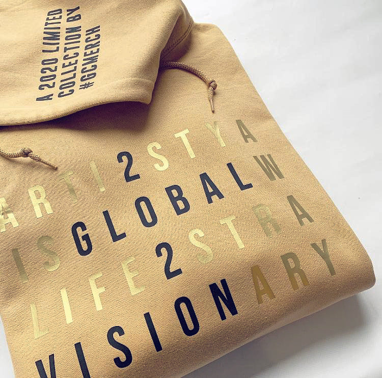 Global Vision 2020 Hoodie- Gold Hoodie- Limited Collection