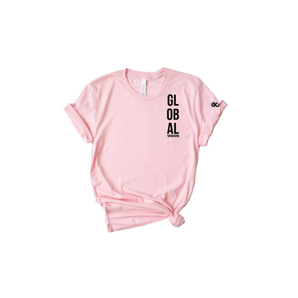 Global Vision Kid's T-Shirt- COTTON CANDY PINK