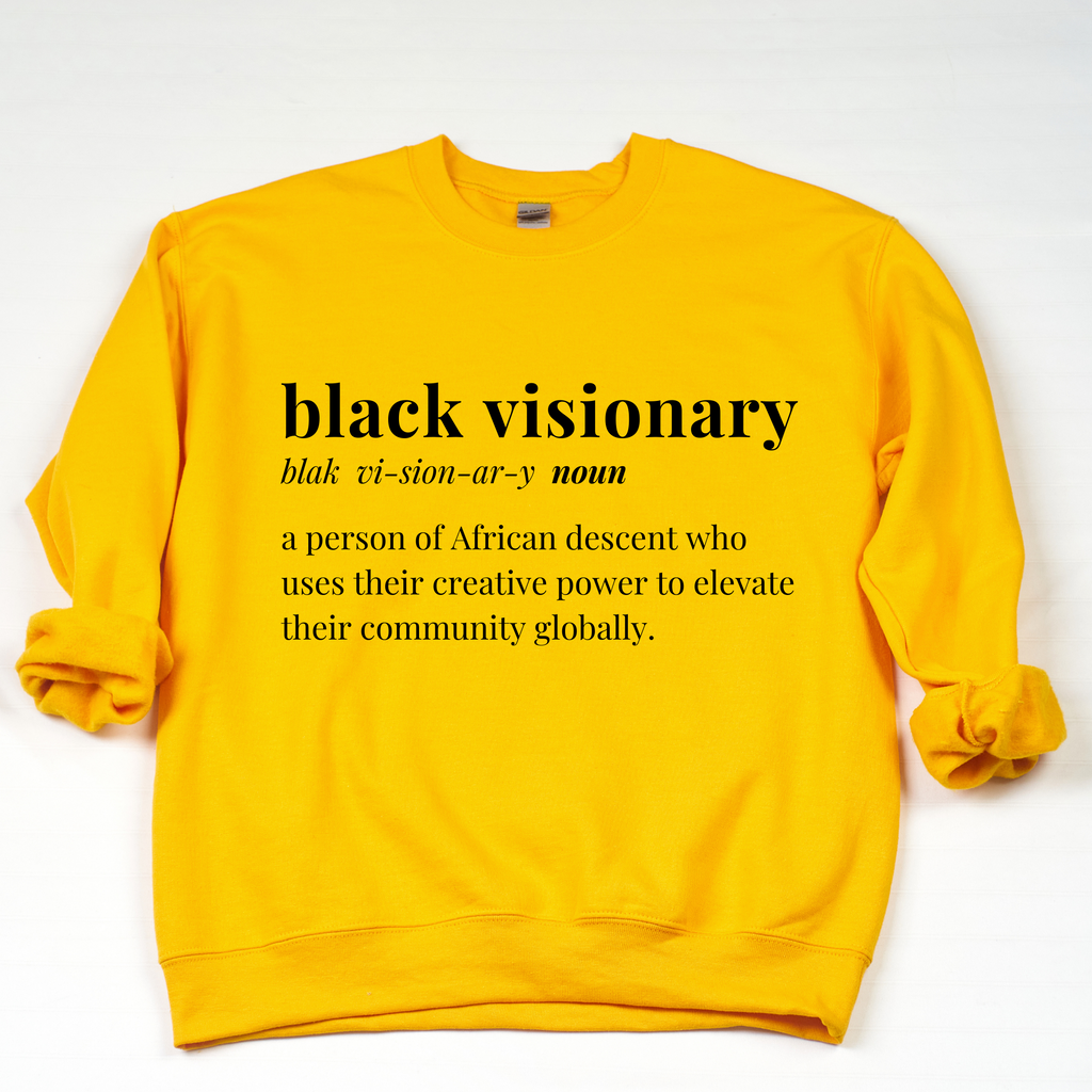 Black Visionary Unisex Sweatshirt- GOLD