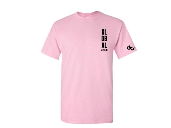 Global Vision Unisex T-Shirt- COTTON CANY PINK