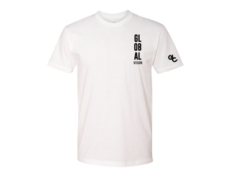 Global Vision Unisex T-Shirt- WHITE