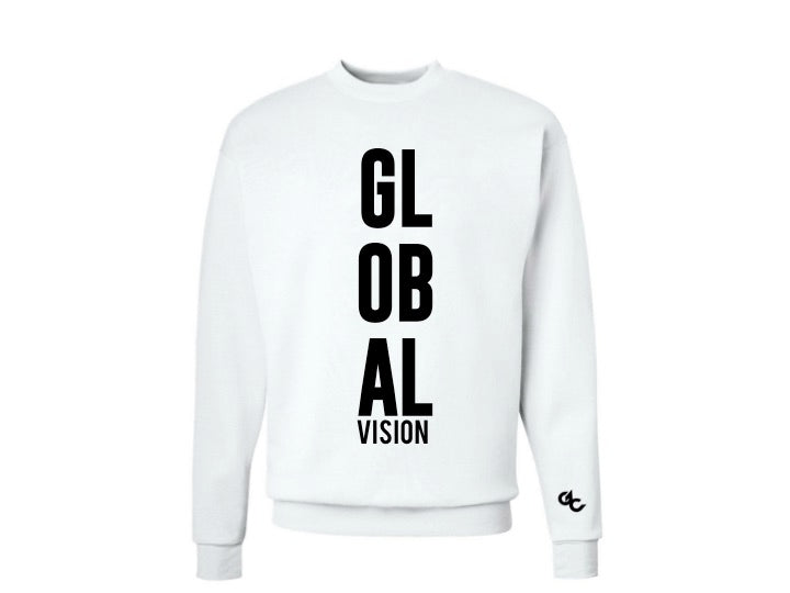Global Vision Unisex Sweatshirt- WHITE
