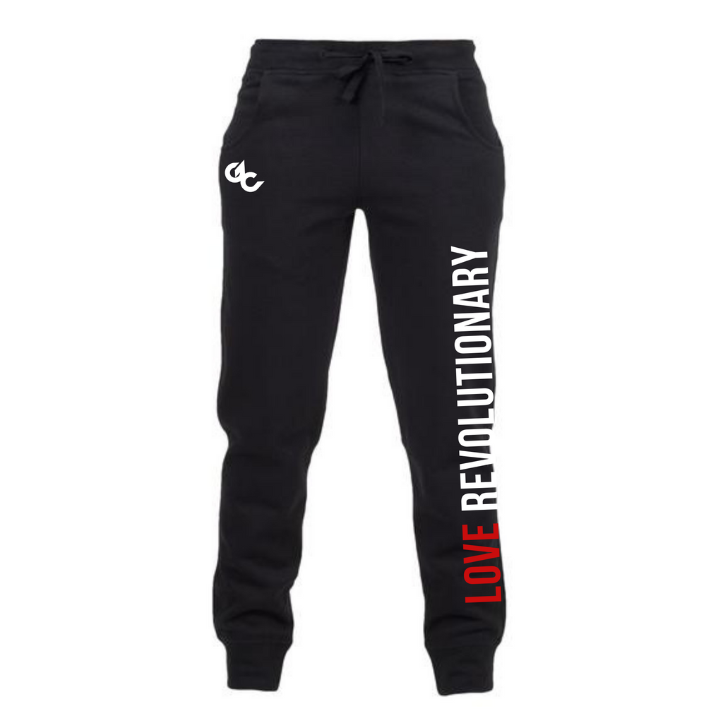 Love Revolutionary Unisex Joggers - Black
